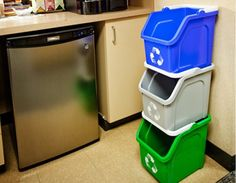 Stackable Kitchen Recycling Bin