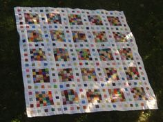 "Made with 2 1/2"" squares.  A leaders and enders project.  Gotta do this one!"