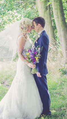 Wild flower festival look wedding flowers for a woodland style wedding