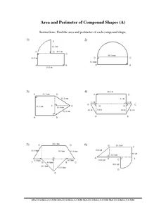 Worksheets Area Of Irregular Figures Worksheet area and perimeter geometry worksheets on pinterest measurement worksheet of compound shapes