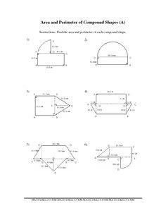 Worksheets Area Of Irregular Figures Worksheet area and perimeter geometry worksheets on pinterest measurement worksheet of compound shapes