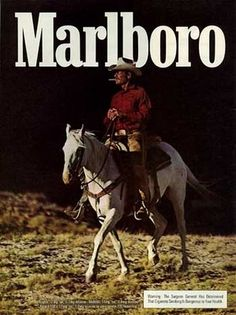 "superseventies: "" Marlboro Man - 1978 advertisement "" Not sure if I have this one."