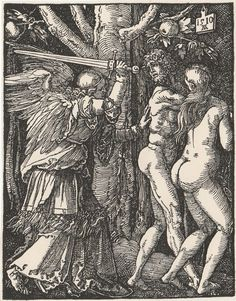 Expulsion from the Paradise - Engraving After Albrecht Durer #2 Small Passions #Impressionism
