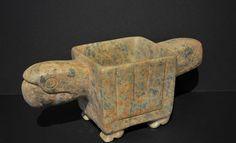 Parrot Mortar - Chorrera-Machalilla Culture - Ecuador 1500 - 1000 BC Stone - William Siegal Gallery