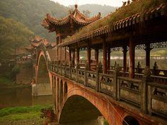 Ancient Bridge, Sichuan, China