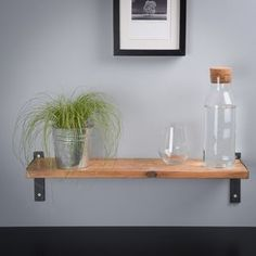 Reclaimed Wood And Steel Industrial Style Shelf - shelves & racks