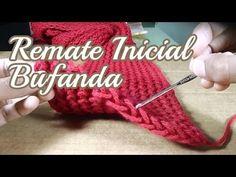 Remate Inicial de Bufanda tejida - Telar Rectangular - YouTube