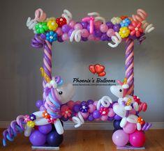 Unicorn Balloon, Unicorn Party, Unicorn Birthday, Diy Party Decorations, Balloon Decorations, Birthday Decorations, 14th Birthday, First Birthday Parties, First Birthdays