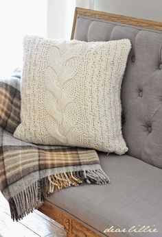 Love tufted gray bench and cozy wool throw from @HomeGoods! #sponsored #homegoodshappy #happybydesign