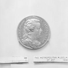 Marie Antoinette Bronze gilt coin