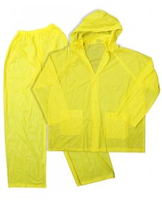Boss 3-Piece Extra Large Yellow 10 mil Rainsuit Free Ship
