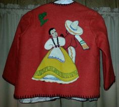 Child's Mexican Hand Stitched Wool/Felt Jacket  in Clothing, Shoes & Accessories, Vintage, Women's Vintage Clothing, 1947-64 (New Look-Early 60s), Coats & Jackets | eBay
