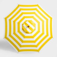 Bring maximum shade to your outdoor oasis with our exclusive umbrella canopy featuring a classic yellow stripe pattern.