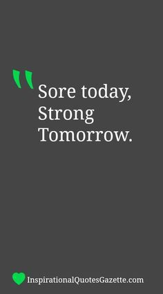 Inspirational Quote About Fitness - Visit us at http://InspirationalQuotesGazette.com for the best inspirational quotes!