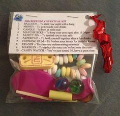 30th BIRTHDAY SURVIVAL KIT Birthday Gift 30th Present For Him Her Friend | eBay