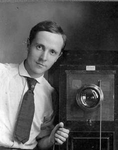 U.S. Photographer Edward Steichen, self-portrait with a box camera, c. 1910