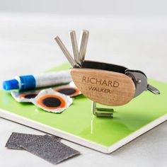 Personalised Bicycle Tool And Puncture Repair Kit    #giftsforhim #giftsforaman #personalizedgift #gift #giftideas
