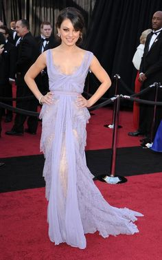 Mila Kunis wore this 'lingerie' dress to the Oscars in 2011