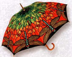 """tiffany"" dragonfly umbrella."