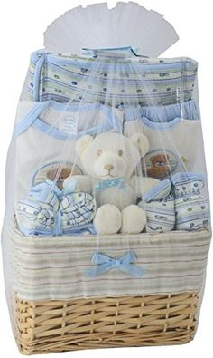 Baby Toy Gift Sets - Big Oshi Baby Essentials 10 Piece Layette Basket Gift Set -- Visit the image link more details.