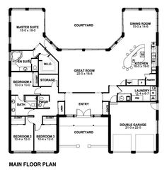Plan No. 195010 Main Floor Plan