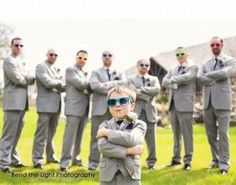 coolest groomsmen and coolest ring bearer. Love this. Click on the photo to see more. Groomsmen ideas, groom, ring bearer ideas, wedding photography, cool