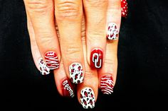 OU NAILS!! BOOMER!!  Totally getting my nails done like this this season!!