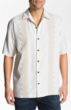 Tommy Bahama 'Sand Deco' Silk Campshirt #Shirt #Men #ShirtsSweaters