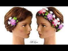ЗАЖИМЫ С РОЗАМИ, МК / DIY Roses Hair Clip - YouTube