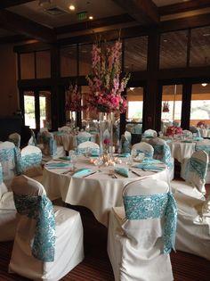 Shades of Pink & Tiffany Blue