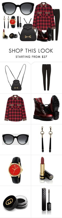 """""""Gucci Red & Black"""" by blue99star on Polyvore featuring Gucci"""