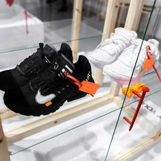 "Virgil Abloh unveils the next Off-White Nike Air Presto at his IKEA ""MARKERAD"" collection preview. Air Presto, Adidas Fashion, Sneakers Fashion, Nike Shoes, Adidas Sneakers, Fresh Kicks, Virgil Abloh, Shoe Game, White Nikes"