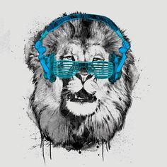 Shady Lion by joshuaians  Source:fancy-tshirts.com