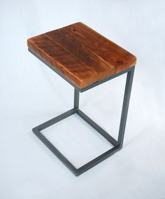 Industrial Reclaimed Timber Laptop Table by JonathanJanuary (Corvallis/Local) $225
