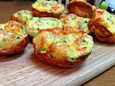 Easy Zucchini, Bacon and Cheese Frittatas