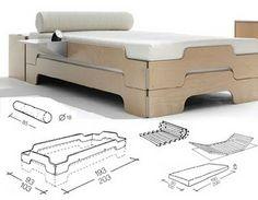 Stapelliege Omaggio al letto modulare