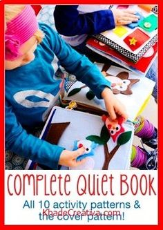 KhadeCreativa.com HowDoesShe Quiet Book - Patterns now AVAILABLE! | How Does She source by :http://pinterest.com/pin/438115869977063815/