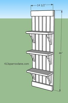 Plans for knock-off antique farm house shelf