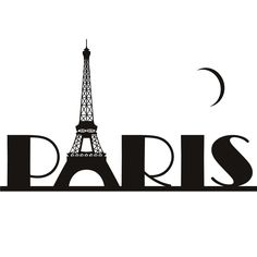 paris clipart | Paris Eiffel Tower France Wall Art Sticker Wall Decal Transfers | eBay