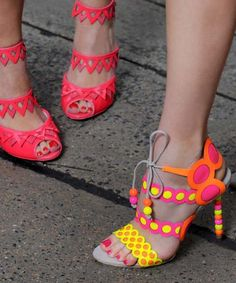 Sophia Webster super shoes - very strange… but I actually kinda like them, esp the ones in the back!
