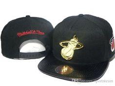 2016 black mitchell & ness team logo adjustable hats mens snapback caps adjustable sports team caps snapback hip hop street hats DD