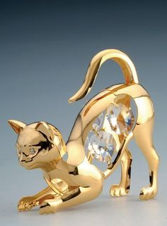 Cat Swarovski Crystal 24k Gold Plated Figurine NIB by KG & C, INC, http://www.amazon.com/dp/B0036IRD26/ref=cm_sw_r_pi_dp_yDcssb0N96Z0K