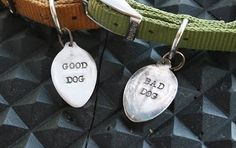 Silver Spoon Dog Tags