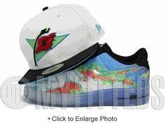 Carolina Hurricanes Glacial White Jet Black Weatherman Foamposite Matching New Era Hat
