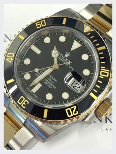 Rolex Steel and 18ct Yellow Gold Submariner Date Watch