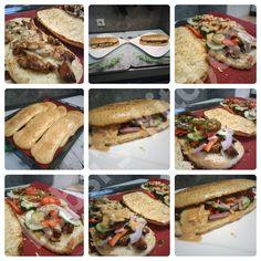 CHICKEN TERIYAKI SANDWICH MIT CHEESE - OREGANOBROT - WIE BEI SUBWAY Rezept: http://babsiskitchen-foodblog.blogspot.de/2016/07/chicken-teriyaki-sandwich-mit-cheese.html