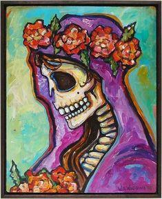 Memento Mori, Day Of The Dead Artwork, Sugar Skull Art, Sugar Skulls, Skeleton Art, Skeleton Tattoos, Mexican Folk Art, Art Plastique, Graffiti Art