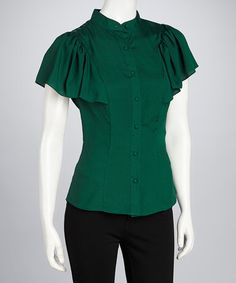 Take a look at this Teal Tanya Top by Darling on #zulily today!