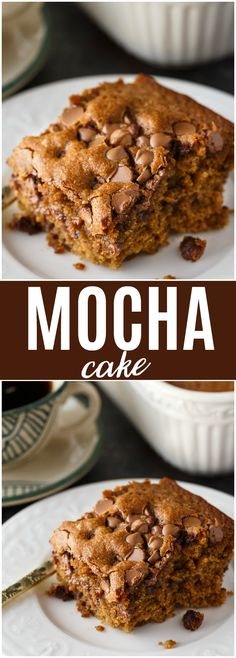 Mocha Cake - Serve with coffee or tea. It's wonderfully moist and delicious with hints of chocolate and coffee flavours.