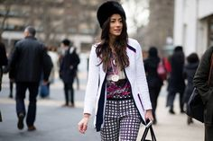 I spy the gorgeous @saucyglossie on @thecut for her fab #streetstyle at #nyfw. love love! xx